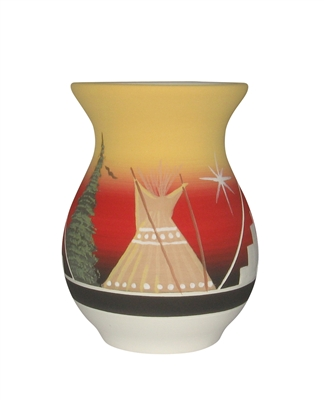 "Fat Belly Vase -lg ""TeePee"""