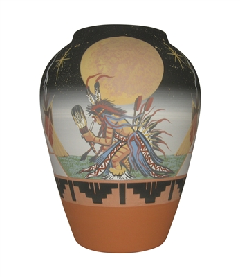 "Harvest Vase -Lg ""Moon Dancer"""
